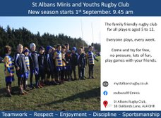 St. Albans Mini & Youth Rugby 2019