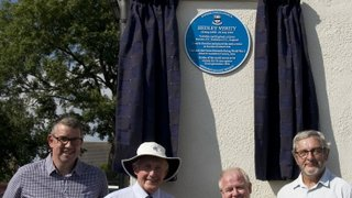 Hedley Verity Blue Plaque unveiling - Sponsors Day 2018