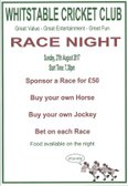 Race Night at The Belmont Sunday 27 August at 7.30