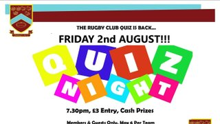 Crawley RFC Quiz Night
