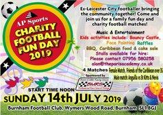 CHARITY FOOTBALL SUNDAY 14th JULY