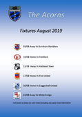 August League Fixtures at a Glance