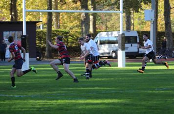 Chasing up behind what would become a try scorer.