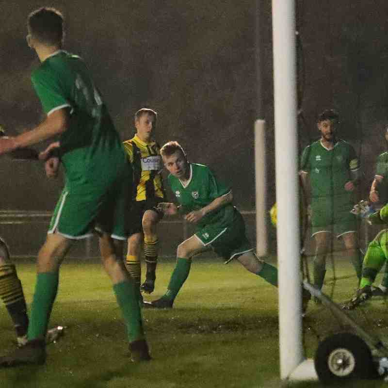 Harry Norman's shot was brilliantly saved by the Canvey Island keeper late on
