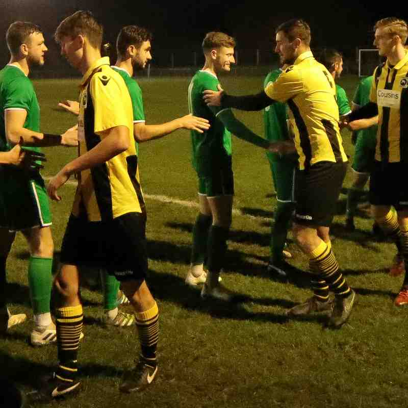 Conor Tyrell (left) makes his debut for the Bees in their Velocity Trophy match at the Cousins Car Wash Stadium against Canvey Island
