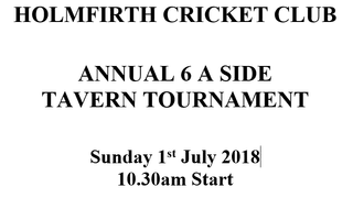 Taverners 6-A-Side @ HCC on 1st July.