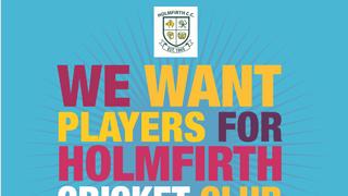 Players Wanted for Holmfirth Cricket Club 2019 Season