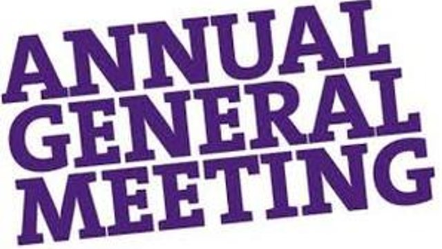 Sports Club AGM - Wednesday 6 November 2019 at 8:00pm