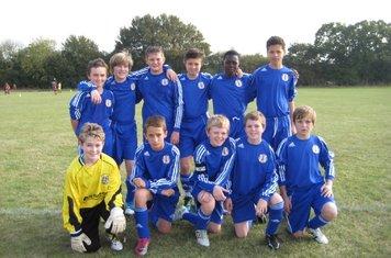 Grays Athletic  U13 (1) V Chelmsford City (3) EJA - 16th Oct 2011 Starting Eleven