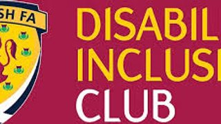 ANNOUNCMENT  Dalkeith Thistle CFC  are now a  Disability Inclusive Club