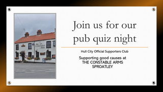 Pub Quiz Night - The Constable Arms, Sproatley, Monday 11th November