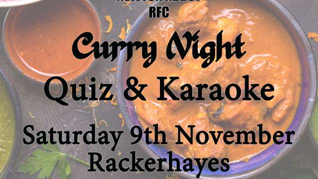 9th November 2019 - Curry, Quiz & Karaoke