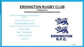 Erdington RFC End of Year Awards Dinner