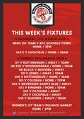 FIXTURES - A look ahead to this weekend's schedule for The Tigers