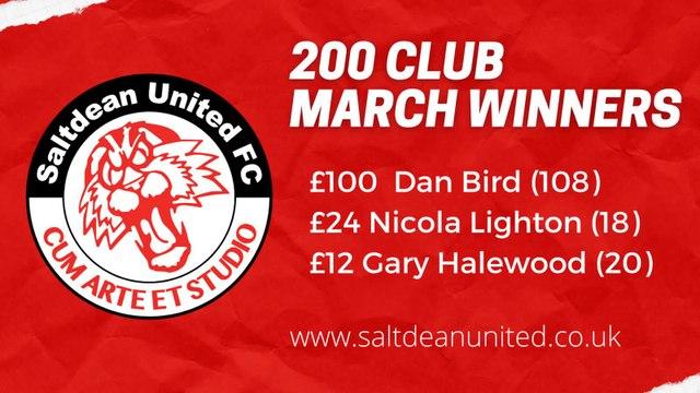 200 CLUB - March winners revealed!