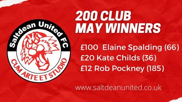 200 CLUB - May Winners Revealed