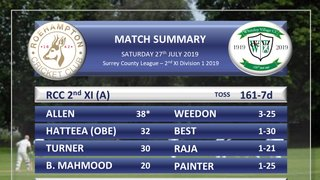 2s overcome Whiteley in the rain