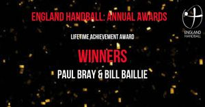 Paul Bray with the EHA Lifetime Achievement Award.