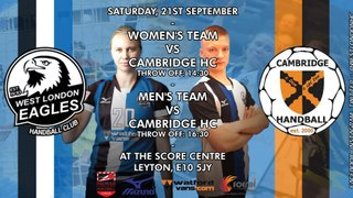 Eagles to face Cambridge HC in the double-header