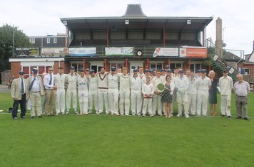 Paignton and Meopham before the minute's applause remembering Brian Sambrook