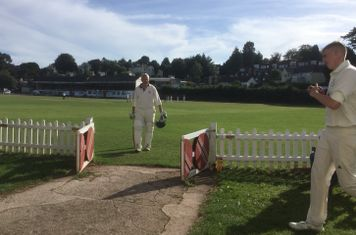 The Silver Fox returns to the pavilion, out to a wonder catch