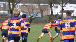 Old Salts Under 14's V's Old halesonians in the plate match 1/4 finals, under 14's (score 24-22) Away