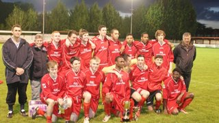 EGHAM TOWN WITH THEIR TROPHIES