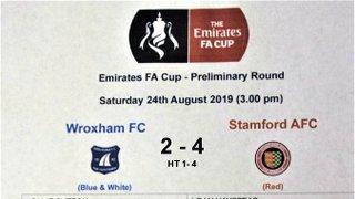 2019 WFC v Stamford FACup 4 - 2 loss