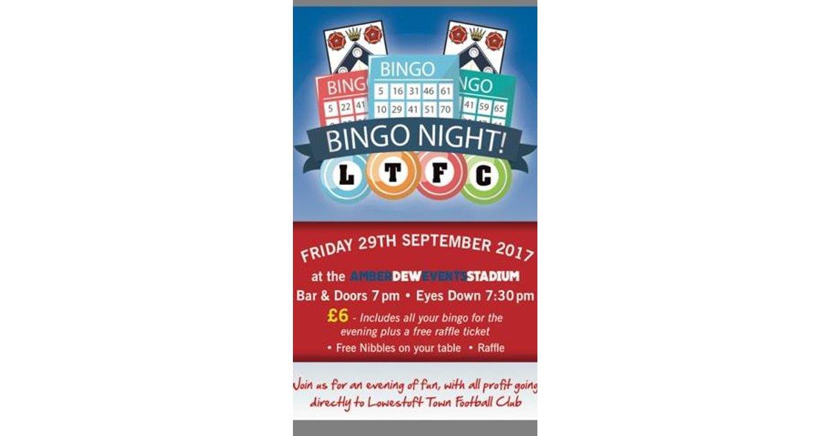 Lowestoft Town Bingo Night
