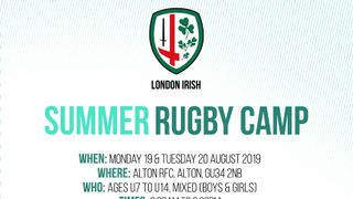LONDON IRISH SUMMER CAMP at ARFC.