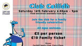 Club Ceilidh at Forthill