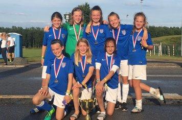 Kew Girls U13 win Cup Denmark
