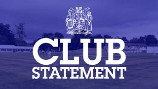 Club Statement: Chairman