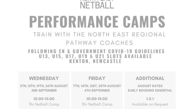 Summer Training Camps NER Netball