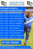 November Fixtures at the Arden Garages Stadium