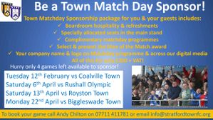 Final Match Sponsorship opportunities available now!