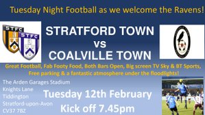 MATCHNIGHT TONIGHT! Coalville Town our visitors KO 7.45pm