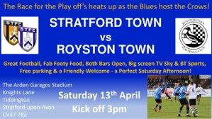 MATCHDAY! We host Royston Town KO 3pm