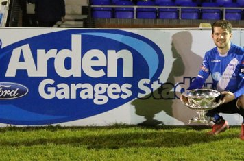 Jimmy Fry celebrating our win at the Arden Garages Stadium!