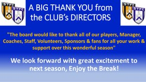 A BIG Thank you from the Club's Directors