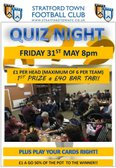 Quiz Night at the club this Friday 31st May at 8pm
