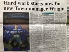 Town boss Tommy speaks to the Herald