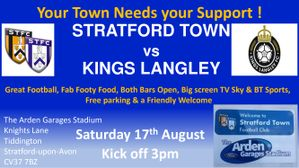 MATCHDAY! We welcome Kings Langley today KO 3pm