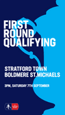 FA CUP MATCHDAY! Town host Boldmere St Michaels KO 3pm