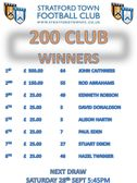 August's 200 CLUB Winners Announced!