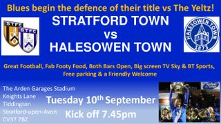 Reduced Gate Prices! vs Halesowen Town in the League Cup this Tuesday 10th September KO 7.45pm