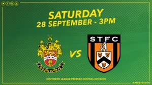 Next up we travel to Hitchin Town this Saturday KO 3pm