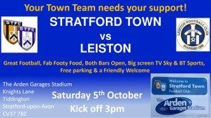MATCHDAY! We host Leiston today KO 3pm