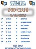 September's 200 CLUB Winners Announced!