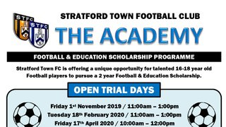 New Academy Open Trial dates!